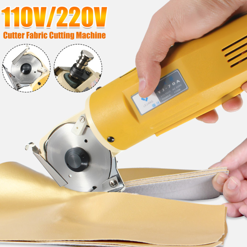 Efficient 170W 70mm Electric Cloth Knife Fabric Cutting Tool Leather Cloth Electric Cutter Machine Kit Cutting Saws 110V/220V