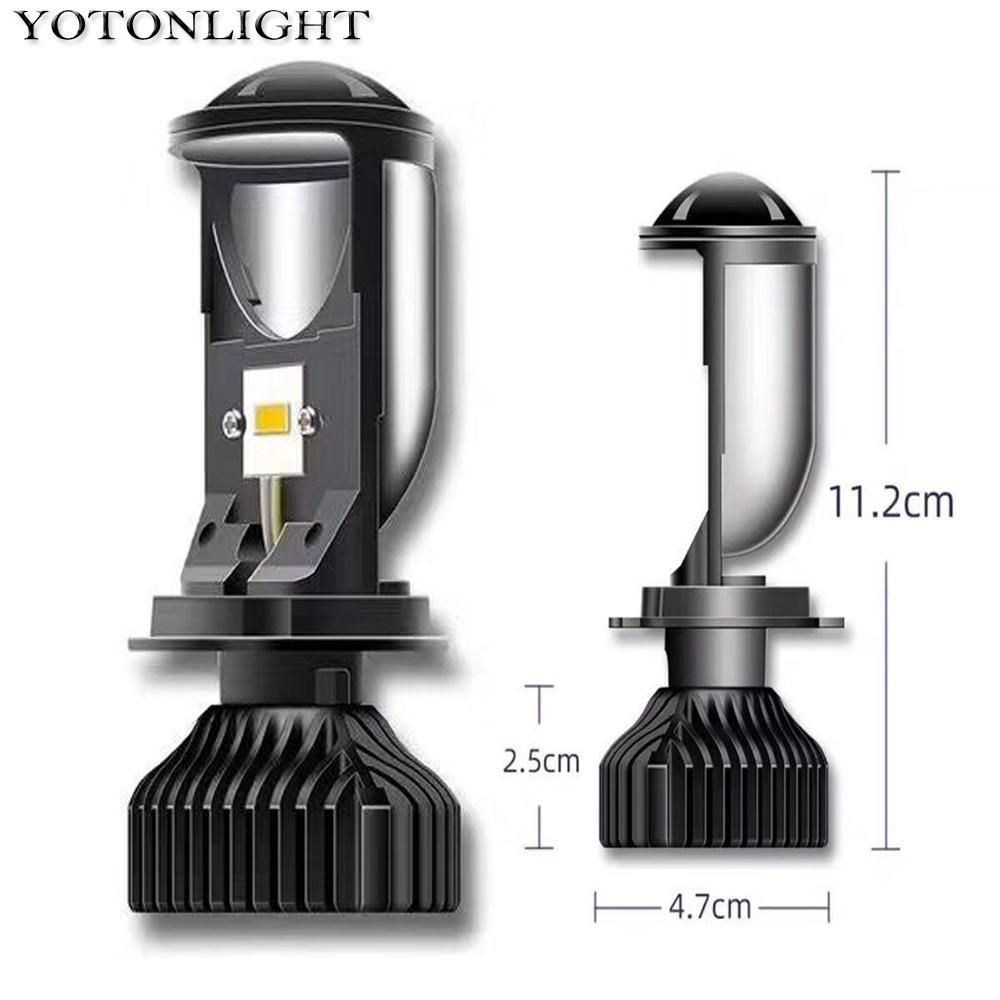 YOTONLIGHT Mini Canbus H4 Projector Lens Led Headlight Bulbs Lamps 9003 Luces Led H4 90W 20000LM Hi/lo Beam Automotivo 12V 6000K