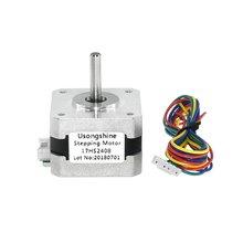 цена на High Quality 4-lead Nema 17 Stepper Motor 42 Motor 42BYGH 0.6A CECNC Laser 3D Printer Motor Electric Motor 17HS2408