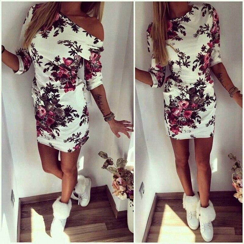 H9066e7ad34b5416399004072c4797c22q Cute Cartoon Printing Summer Dress Women Sheath Half Sleeve Bodycon Vestidos O Neck Elegant Mini Casual Ladies Dress