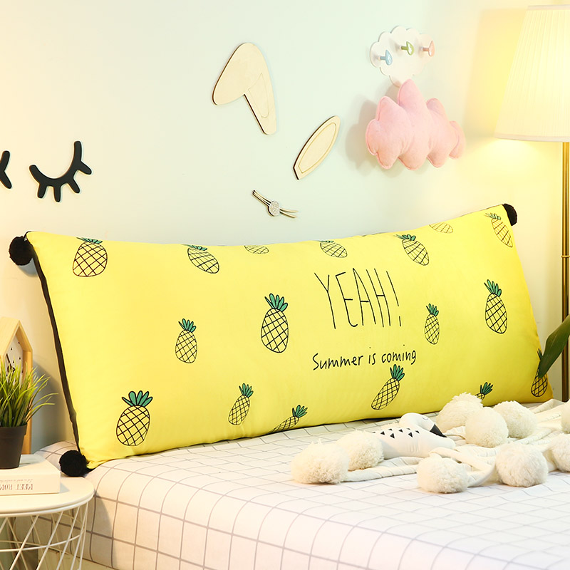 Cartoon Bedside Cushion Flannelette Children's Bedside Back Crystal Velvet Sofa Backrest Tatami Bed Pillow