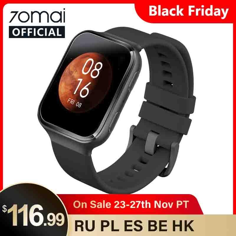 70mai Smart Watch 70mai Saphir Watch Bluetooth GPS Sport Heart Rate Monitor 5ATM Resistance Call Reminder 70mai Smartwatch APP