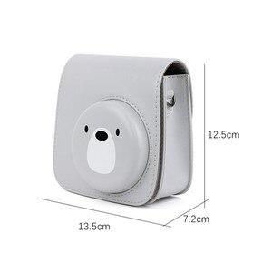 Image 5 - Кожаный чехол для мини камеры fujifilm instax Mini 9, сумка из ПУ для камеры instax mini 8, чехол для камеры Мгновенной Печати s, чехол Mini 8 +, чехол для камеры s