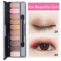 Moda Eyeshadow Palette 10 Cores Matte Eyeshadow Palette Brilho Sombra de Olho Maquiagem Nude Maquiagem Beleza definir Ferramentas de Cosméticos Hot