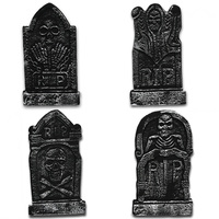4 шт./компл. Хэллоуин пена надгробия RIP грейвэйард головной камень с металлическими кольцами легкая пена надгробия украшения Хэллоуин