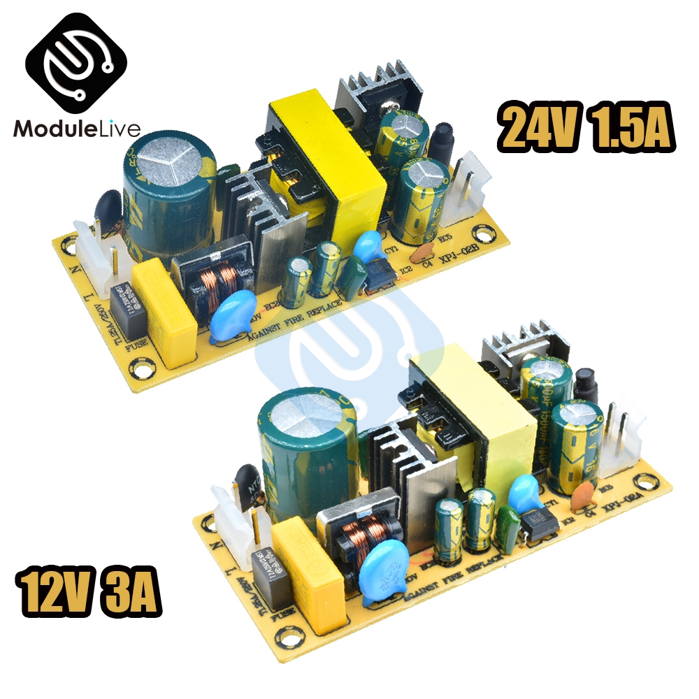 <font><b>AC</b></font>-<font><b>DC</b></font> 12V 3A <font><b>24V</b></font> <font><b>1.5A</b></font> 36W Switch Switching Power Supply Module Bare Circuit 220V to 12V <font><b>24V</b></font> 12V3A 24V1.5A Board Tool image