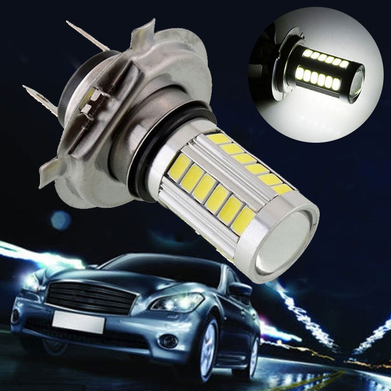 5630 33SMD H7 Front Lamp LED Fog Light Headlamp Headlight Motorcycle Super Bright LED Headlight Bulbs Universal