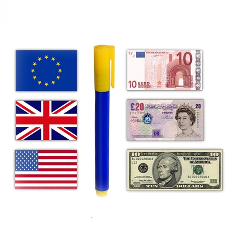 10 pcs Fake Banknote Tester Pen Easy Operation Detector Checker Tester Portable Counterfeit Money Detector Pen