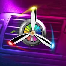 Светодиодный освежитель воздуха для автомобиля, автомобильный освежитель воздуха из сплава с зажимом для ароматерапии, светодиодный светильник