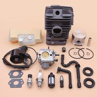 49mm Cylinder Piston Carburetor Ignition Coil Kit For Stihl Stihl MS390 MS290 MS310 039 029 Air Fuel Oil Filter Line Seal