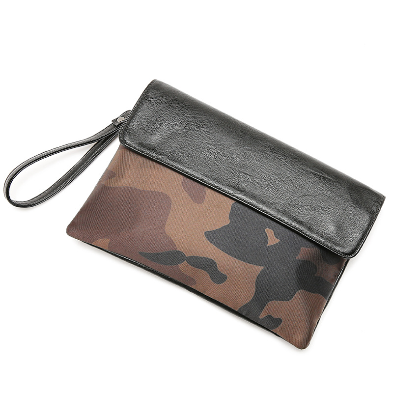 Image 3 - Street casual iPad clutch bag envelope bag men and women tide leopard camouflage clutch bag-in Crossbody Bags from Luggage & Bags