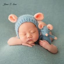 جين زي آن الوليد/100 أيام التصوير 3 ألوان الماوس الدعائم قبعة دمى موضوع صور الدعائم لعام من الماوس استحمام الطفل هدية