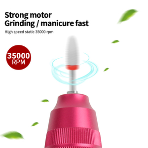 Image 4 - 45W 35000RPM Electric Manicure Set Professional Drill Accessory Nail File Bit Manicure Machine Electric Nail File Ceramic Nail