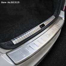 Stainless Steel Exterior Interior Rearguards Rear bumper Trunk Trim Bumper Pedal For Skoda Octavia A7 2018 2019 Car Accessories недорого