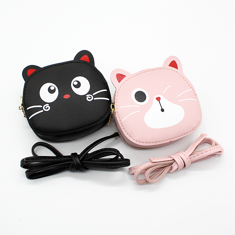 2020 Girl Coin Purse Wallet Cartoon Cat Messenger Bags For Children Crossbody Bag Lovely Small Shoulder Bag Handbag Kids Gifts