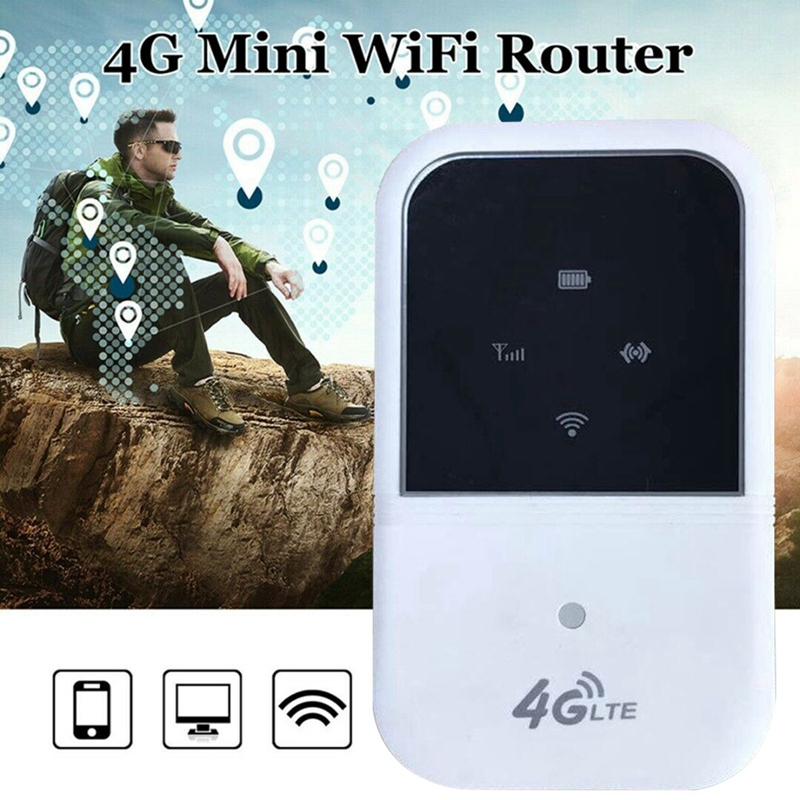 Portable 4G LTE Wifi Router Hotspot 150Mbps Unlocked Mobile Modem Supports 10 Users for Car Home Travel B1 B3