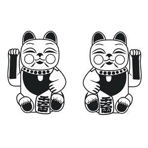 Японский кот символ Maneki-Neko талисман виниловая наклейка на стену домашний декор искусство настенные наклейки подарок