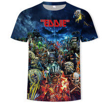 Skull t-shirt Fashion 3D print t shirt men/women heavy metal grim Reaper Short sleeve Harajuku style tshirt streetwear tops