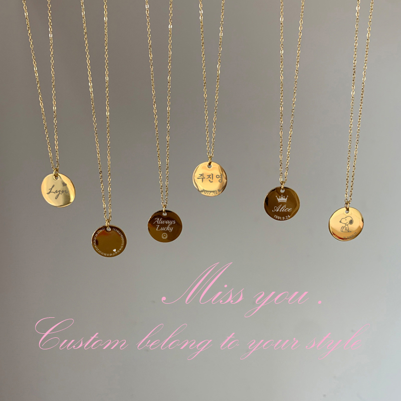 custom necklace name letter angel heart Stainless Steel necklace ladies collares Necklace Jewelry Exquisite Fashion Necklace