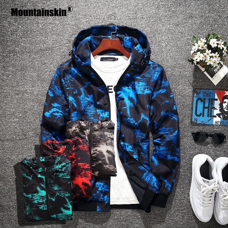Mountainskin 2019 New Jackets Mens Camouflage Pilot Bomber Jacket Male Fashion Baseball Hip Hop Coats Coat Brand Clothing SA751