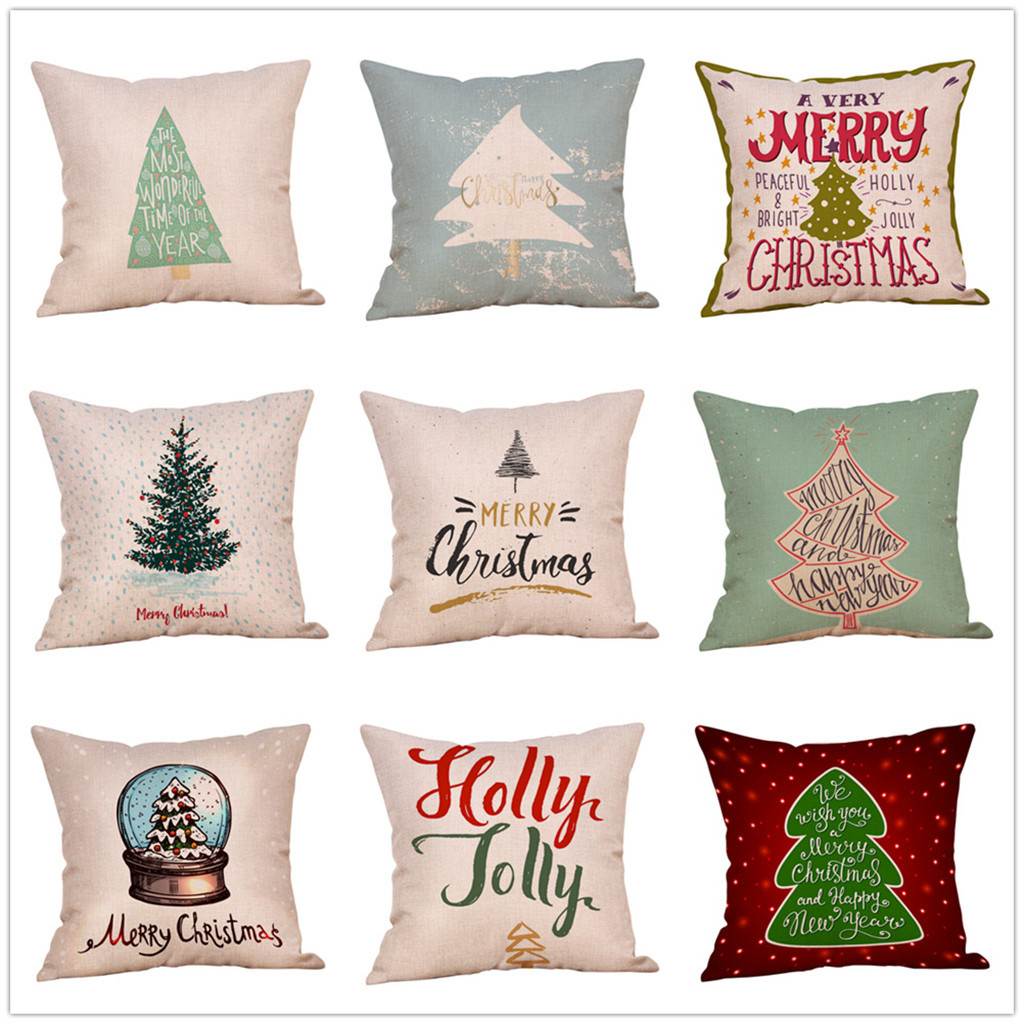 Pillowcases Christmas Throw Pillow Case Cafe Sofa Cushion Cover Home Decor Kussenhoes Housse De Coussin Pillow Cover Cojine Cushion Cover Aliexpress