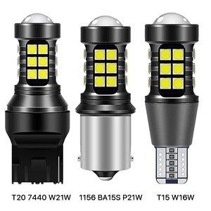 2 шт. P21W светодиодный BA15S T20 W16W T15 3030 27SMD для LADA DRL 2400LM автомобильный светильник лампы Обратный светильник 7440 WY21W W21W Белый 1156 Сигнальная лампа      АлиЭкспресс