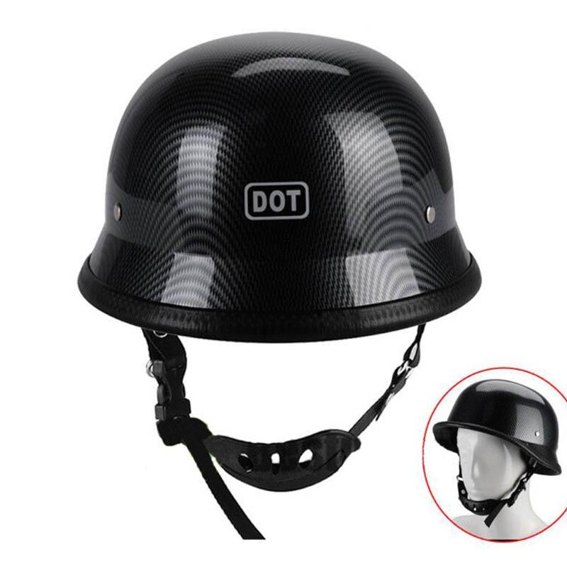 1PC Motorcycle Half Face Carbon Fiber Helmet Black Hat Cap Men Women Motorcross Moto Racing|Helmets| |  - title=