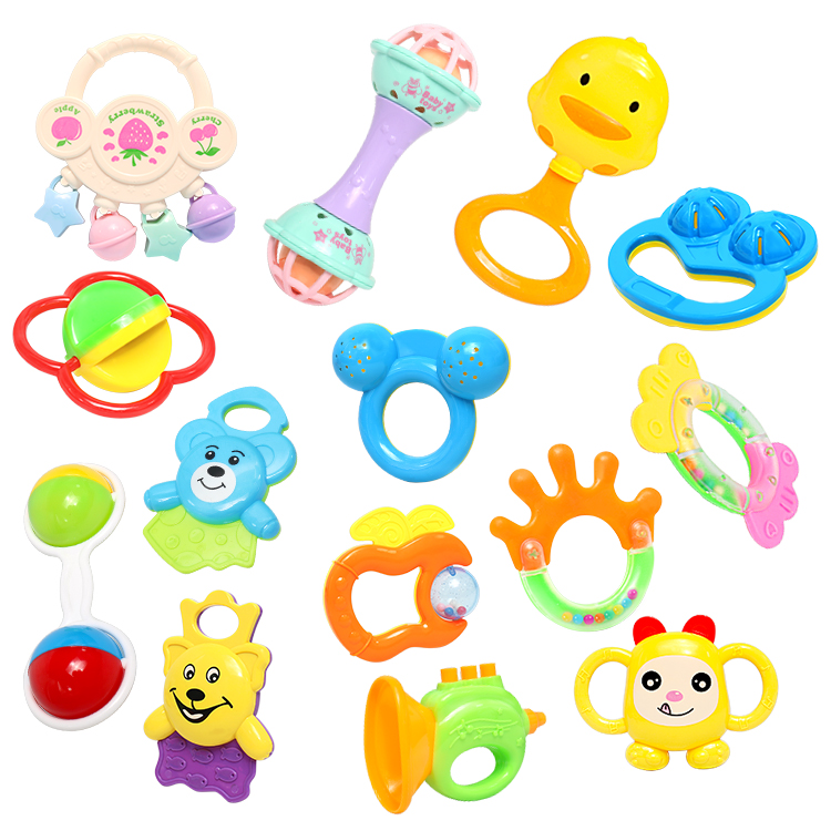 Baby Rattle Infant Plastic Hand Bell Baby Toys 0-12 Months Toys for Children Educational Toys Stroller Toy