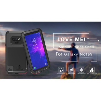 Love Mei Powerful Metal Armor Phone Case For Samsung Galaxy Note 9 Resistant Shockproof Rugged Anti-Fall Cover For Galaxy Note 9 фото