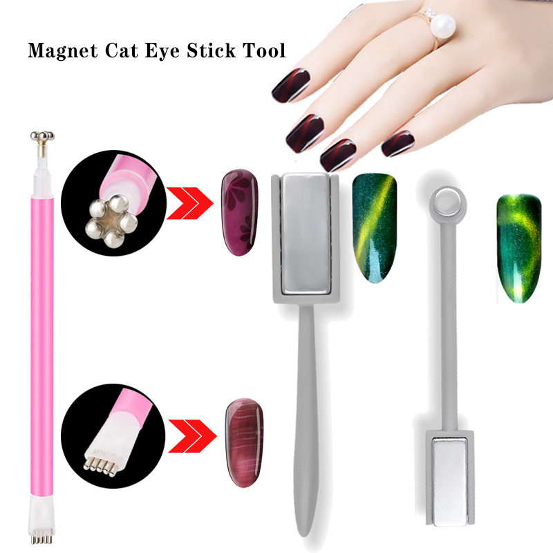 Nail Art Magnet Stick Cat Eyes Magnet For Nail Form Gel Polish 3D Line Strip Effect Strong Magnetic Pen Tools For Gel Varnish