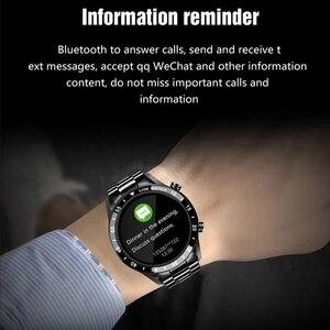 Image 5 - LIGE 2021 새로운 스마트 워치 남자 블루투스 전화 안 드 로이드에 대 한 IP67 방수 전체 터치 스크린 Smartwatch IOS 스포츠 휘트니스 추적기