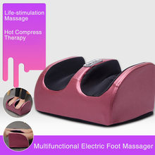 Electric Foot Body Massager Shiatsu Kneading Rolling Vibration Machine Heating Therapy Calf Leg Reflexology Pain Relief Massager
