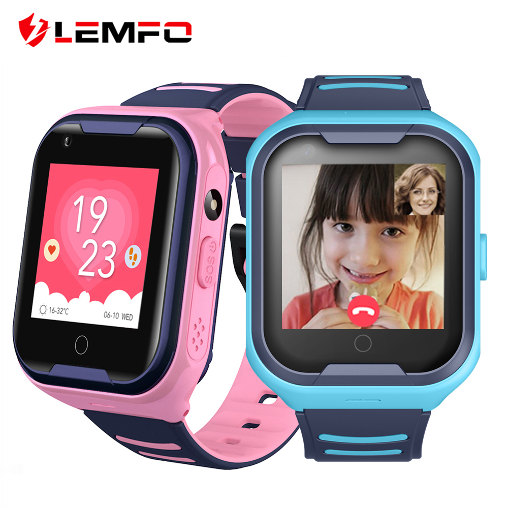 LEMFO GPS Children Smart Watch 4G Support SIM Card Call SOS Full Touch Phone Watch with Camera Waterproof  Kids Watches-in Smart Watches from Consumer Electronics on AliExpress