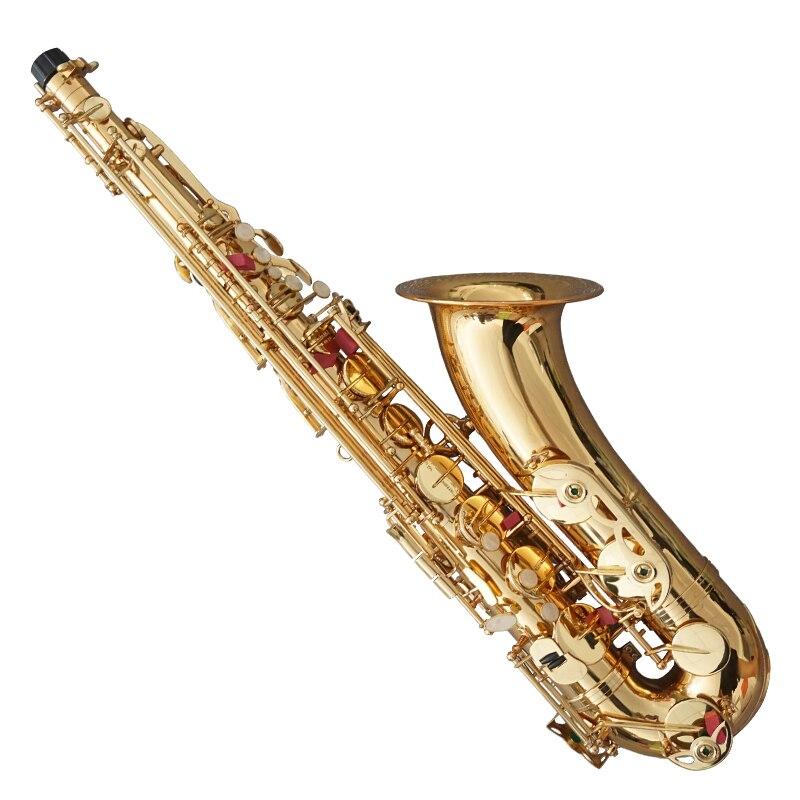 LADE latón grabado Eb e flat saxofón saxo abulón botones Shell con funda guantes paño de limpieza cinturón de grasa cepillo - 2
