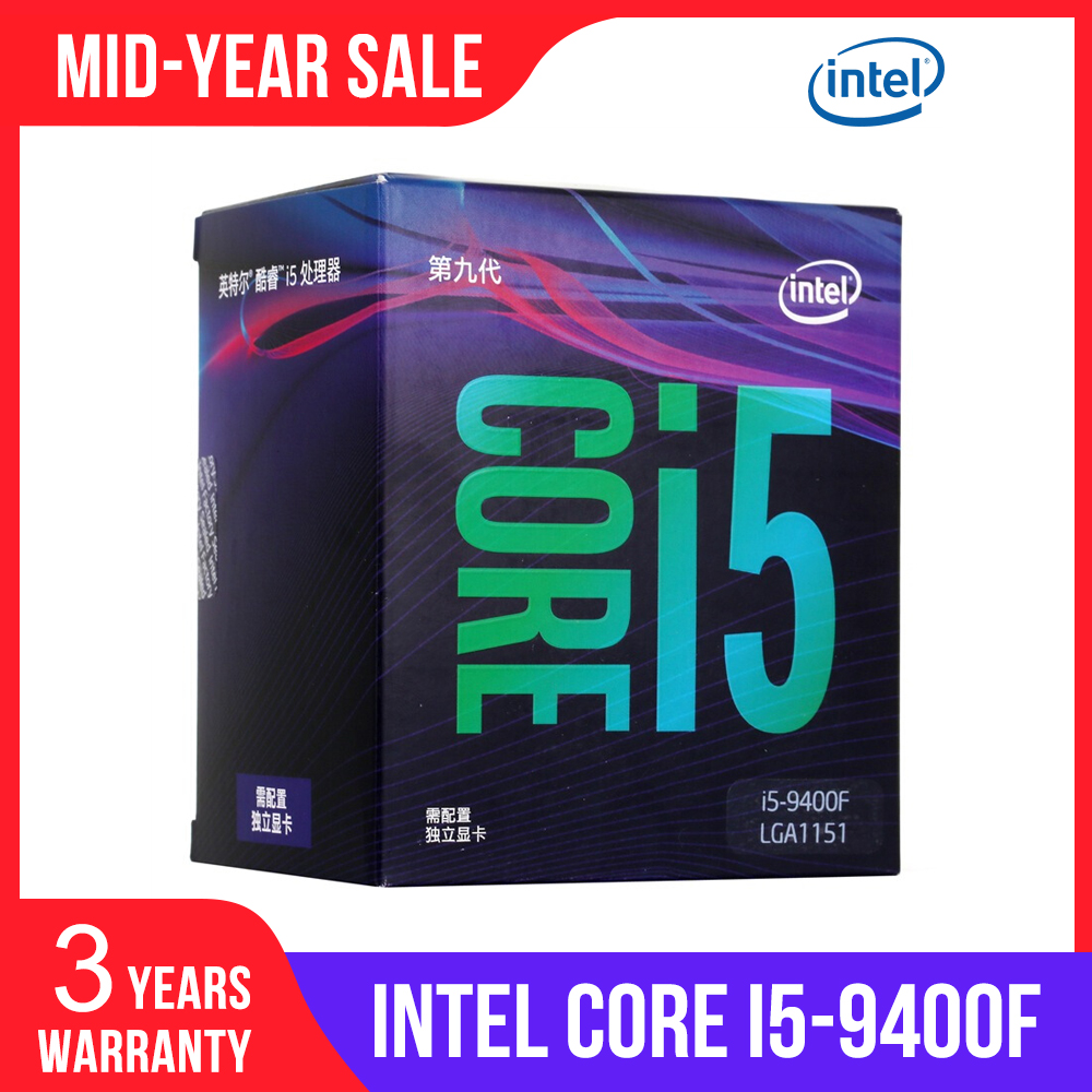 Intel Core i5-9400F Desktop Processor 6 Cores 4.1 GHz Turbo Without Graphics image