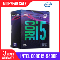 Intel Core i5 9400F Desktop Processor 6 Cores 4.1 GHz Turbo Without Graphics