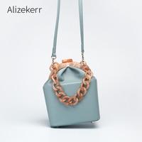 Women Box Bag Handbag Luxury Designer 2019 Acrylic Thick Chain Clip Bucket Bags Women Famous Brands Purses And Handbag For Girls