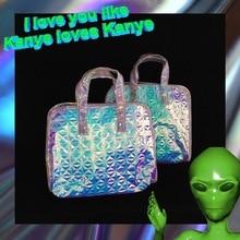 Sweet Teen Girl Shoulder Bag Hologram Glitter Leather Laser Holographic TB11