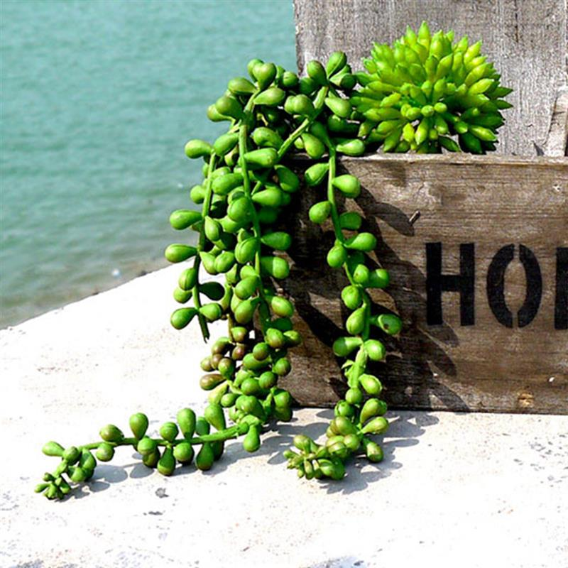 Artificial Plant String  Green Beads Chains Plant Artificial Hanging Plant String Of Pearls Fake Succulent Fake Plant For Home