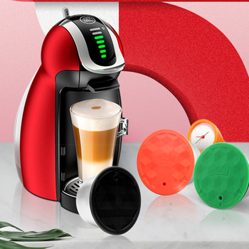 Refillable STAINLESS STEEL Reusable For Dolce Gusto Coffee Capsule Silicone Cover Dolci Coffee Machine Coffee Spoon with Clip