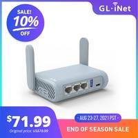 GL.iNet Beryl (GL-MT1300) Gigabit Dual-band Wi-Fi Travel Router Support IPv6 OpenWrt pre-Installed, Pocket-Sized Hotspot