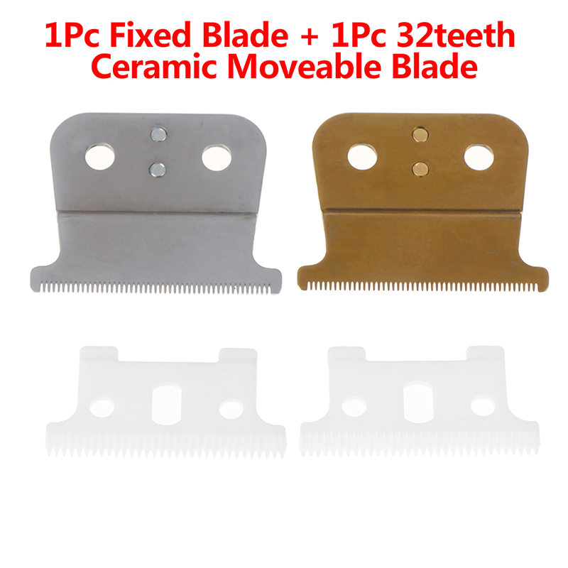 2pcs/set Replacement T-Outliner Blade Trimmer 32 Teeh Ceramic Moveable Blade