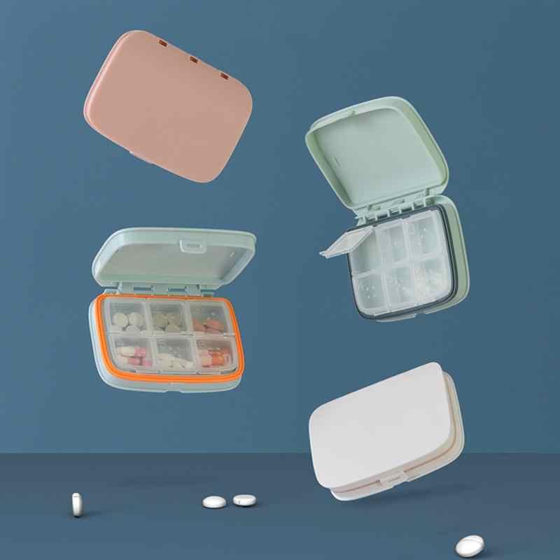 ROSENICE Mingguan Berputar Pil Kotak Perjalanan Kasus Pil Splitter Pil Organizer Kedokteran Cutter 7 Hari Pil Wadah Pastillero