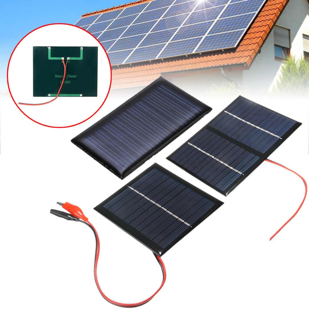 Mayitr المحمولة خلية نظام لوحات شمسية 9 فولت 3 واط ضوء لتقوم بها بنفسك بطارية شحن وحدة شاحن لوحة طاقة شمسية