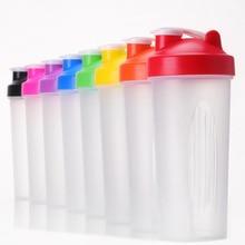 9 color 600ml plastic shake cup protein powder milkshake mixing sports water