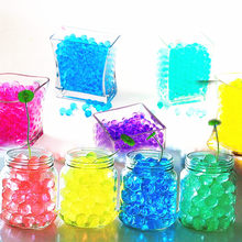 1000pcs/bag Colorful Pearl Gel Ball Polymer Hydrogel Potted Crystal Mud Soil Water Beads Grow Magic Jelly Wedding Home Decor 5Z