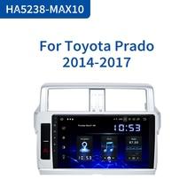 "Dasaita 1 Din Android 10.0 araba radyo GPS navigasyon Toyota Prado 2014 2015 için 10.2 ""IPS Bluetooth 1024*600 64GB ROM"