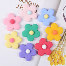 20PCS Mix Color Resin Flowers Stencils/Embellishments For DIY Scrapbooking Flatback Cabachon Hair Band Accessories