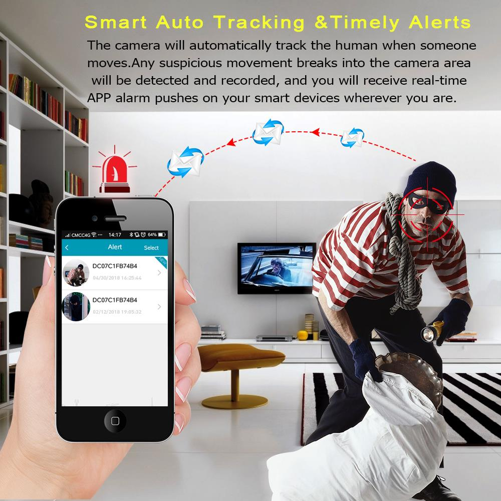 Home Security Wireless Camera With 1080P And Two Way Audio And Video CCTV Monitor 3