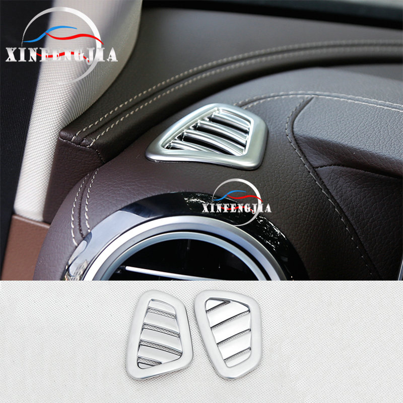 For Mercedes-Benz E Class 2017 2x Instrument panel Upper Air Outlet Cover Trim